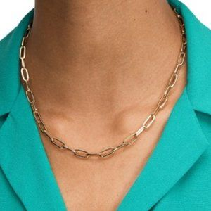 Kate Spade Gold-Tone Cable-Chain Collar Necklace